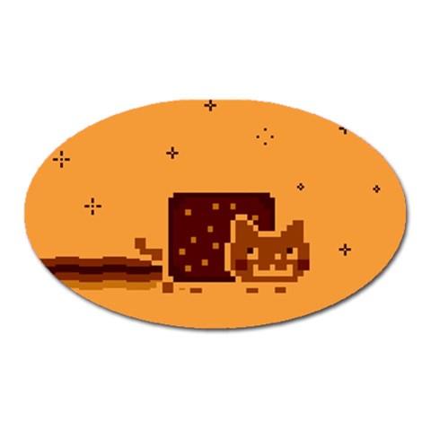 Nyan Cat Vintage Oval Magnet