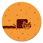 Nyan Cat Vintage Magnet 5  (Round) Front