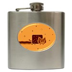 Nyan Cat Vintage Hip Flask (6 oz) Front