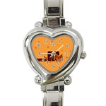 Nyan Cat Vintage Heart Italian Charm Watch Front