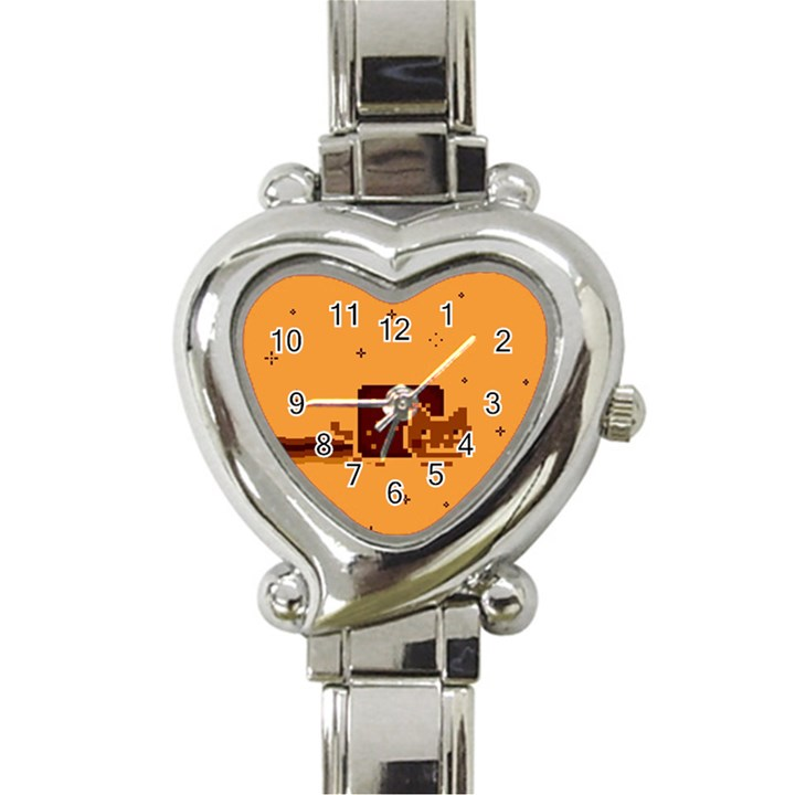 Nyan Cat Vintage Heart Italian Charm Watch