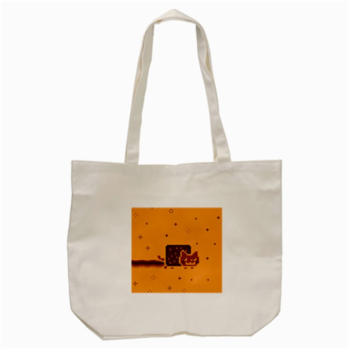 Nyan Cat Vintage Tote Bag (Cream)
