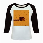 Nyan Cat Vintage Kids Baseball Jerseys Front