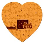 Nyan Cat Vintage Jigsaw Puzzle (Heart) Front