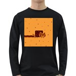 Nyan Cat Vintage Long Sleeve Dark T-Shirts Front