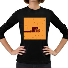 Nyan Cat Vintage Women s Long Sleeve Dark T-Shirts
