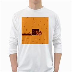 Nyan Cat Vintage White Long Sleeve T-Shirts