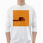 Nyan Cat Vintage White Long Sleeve T-Shirts Front