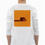 Nyan Cat Vintage White Long Sleeve T-Shirts Back