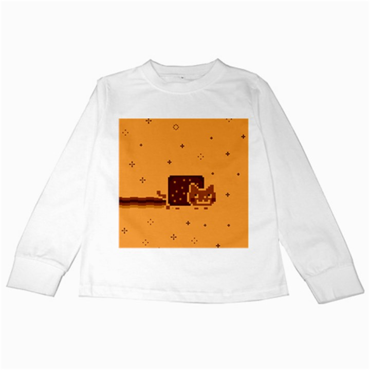Nyan Cat Vintage Kids Long Sleeve T-Shirts