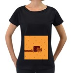 Nyan Cat Vintage Women s Loose-Fit T-Shirt (Black) Front