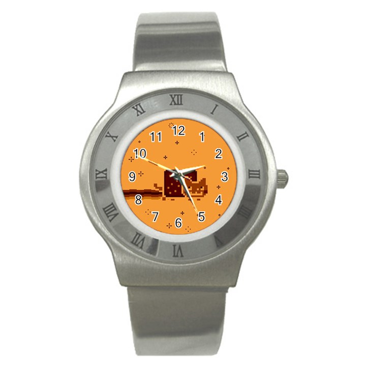 Nyan Cat Vintage Stainless Steel Watch