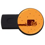 Nyan Cat Vintage USB Flash Drive Round (4 GB)  Front