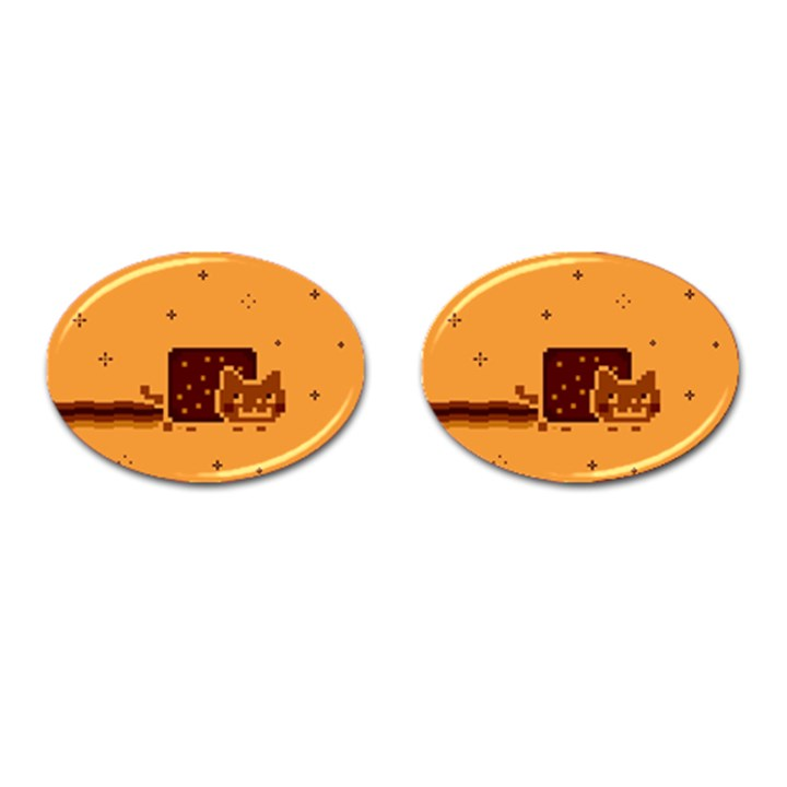 Nyan Cat Vintage Cufflinks (Oval)