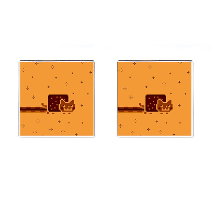 Nyan Cat Vintage Cufflinks (Square)