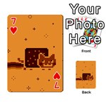 Nyan Cat Vintage Playing Cards 54 Designs  Front - Heart7