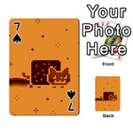 Nyan Cat Vintage Playing Cards 54 Designs  Front - Spade7
