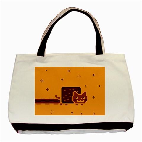 Nyan Cat Vintage Basic Tote Bag
