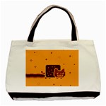 Nyan Cat Vintage Basic Tote Bag Front