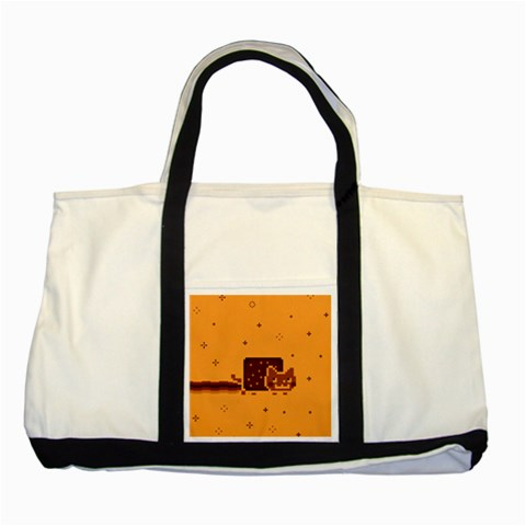 Nyan Cat Vintage Two Tone Tote Bag