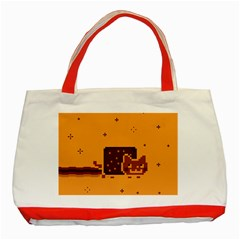 Nyan Cat Vintage Classic Tote Bag (red)