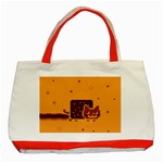 Nyan Cat Vintage Classic Tote Bag (Red) Front