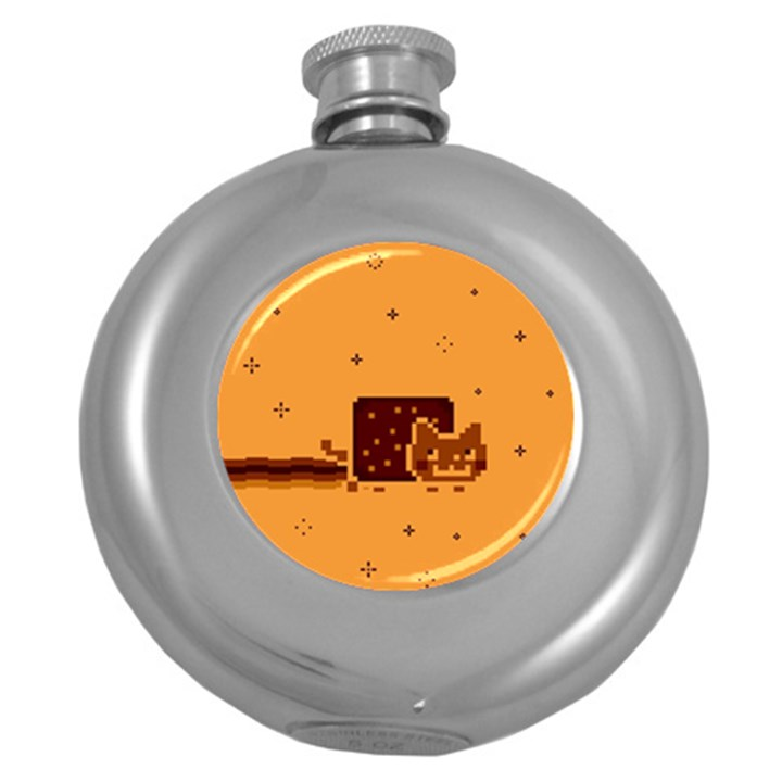 Nyan Cat Vintage Round Hip Flask (5 oz)