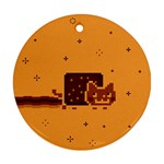 Nyan Cat Vintage Round Ornament (Two Sides)  Front