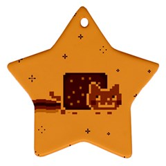 Nyan Cat Vintage Star Ornament (Two Sides)
