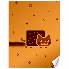 Nyan Cat Vintage Canvas 12  X 16
