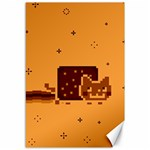 Nyan Cat Vintage Canvas 12  x 18   18 x12 Canvas - 1