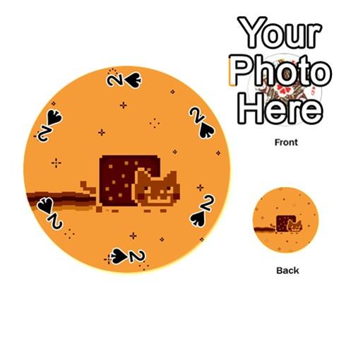 Nyan Cat Vintage Playing Cards 54 (Round)