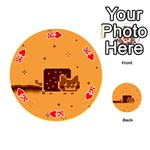 Nyan Cat Vintage Playing Cards 54 (Round)  Front - HeartK