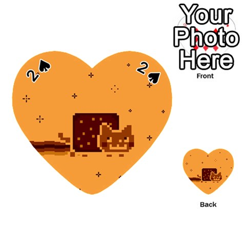 Nyan Cat Vintage Playing Cards 54 (Heart)