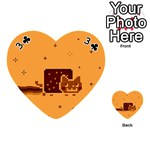 Nyan Cat Vintage Playing Cards 54 (Heart)  Front - Club3