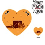Nyan Cat Vintage Playing Cards 54 (Heart)  Front - Club4