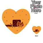Nyan Cat Vintage Playing Cards 54 (Heart)  Back