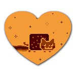 Nyan Cat Vintage Heart Mousepads Front