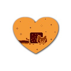 Nyan Cat Vintage Heart Coaster (4 Pack)