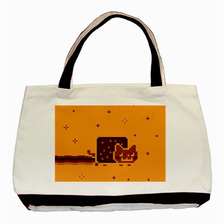 Nyan Cat Vintage Basic Tote Bag (Two Sides)