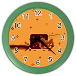 Nyan Cat Vintage Color Wall Clocks Front