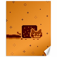 Nyan Cat Vintage Canvas 11  x 14