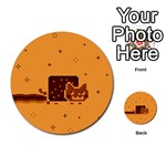 Nyan Cat Vintage Multi-purpose Cards (Round)  Back 1