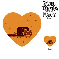 Nyan Cat Vintage Multi Purpose Cards (heart)