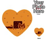 Nyan Cat Vintage Multi-purpose Cards (Heart)  Back 1