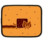 Nyan Cat Vintage Netbook Case (Large) Front