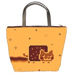Nyan Cat Vintage Bucket Bags Back