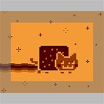 Nyan Cat Vintage Mini Canvas 7  x 5  7  x 5  x 0.875  Stretched Canvas