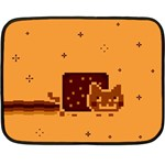 Nyan Cat Vintage Double Sided Fleece Blanket (Mini)  35 x27 Blanket Back