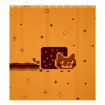 Nyan Cat Vintage Shower Curtain 66  x 72  (Large)  58.75 x64.8 Curtain